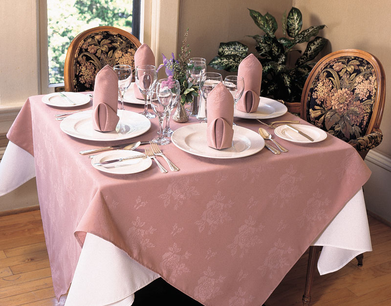 Rose Damask - Gourmet Table Skirts & Linens