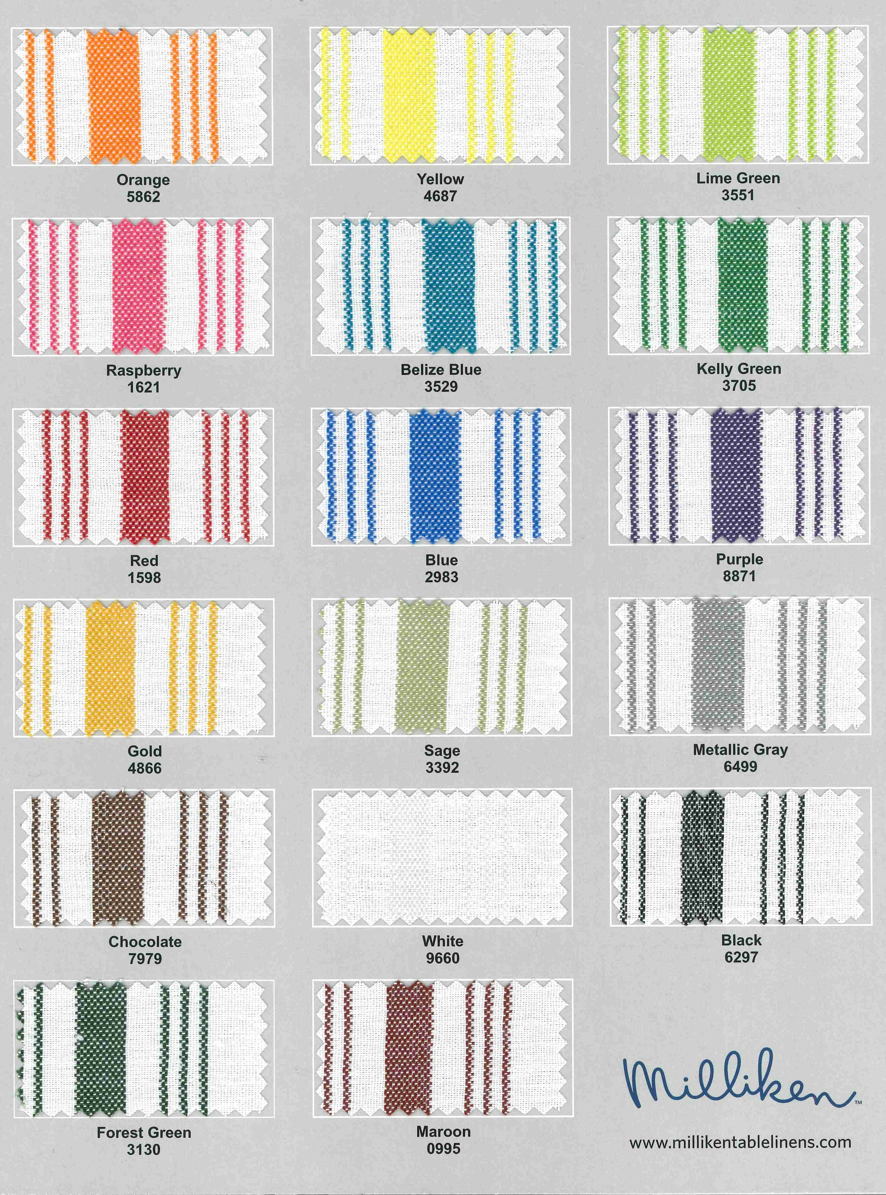Signature Stripes Gourmet Table Skirts Amp Linens
